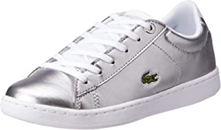 Lacoste Carnaby EVO 318 2 Kids Fashion Shoes, SLV/WHT