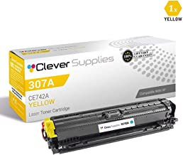 CS Compatible Toner Cartridge Replacement for HP CP5225 CE742A Yellow HP 307A Color Laserjet CP5200 CP5225n CP5220 CP5225 CP5225dn Professional CP5225dn CP5200 CP5225n CP5220 CP5225