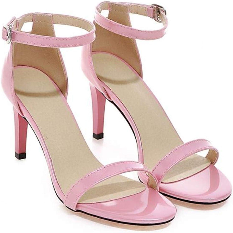 Fashion Women Sandals Ankle Strap Summer Simple High Heels