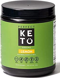 Perfect Keto Green Superfood Powder - 100% Raw Organic Micronutrients & MCT Oil - 26+ Whole Foods Blend - Boost Health wit...