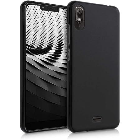 kwmobile Coque pour Wiko View 2 Go - Coque Housse Protectrice pour Téléphone en Silicone Noir Mat