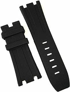 28mm AP Black Silicone Rubber Watch Band Strap Deployment Clasp Fits for AP Audemars Piguet Royal Oak
