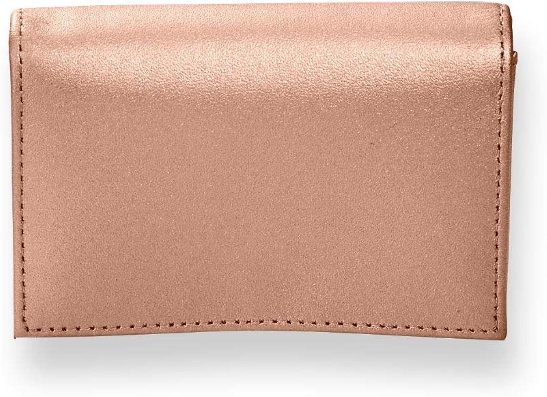 Levenger pink gold Card Wallet