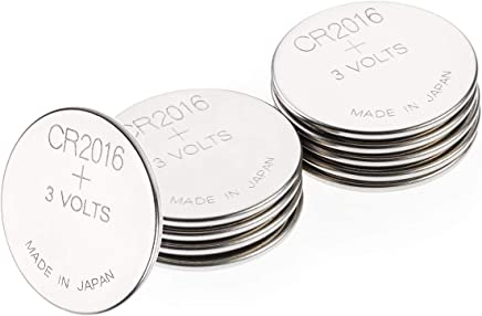 2016 Battery Pack of 10 – 3V CR2016 / DL2016-3 Volt Lithium coin cell batteries – Button Batteries ideal for: Casio watch/Car Key battery–Suitable for everyday use in a variety of devices