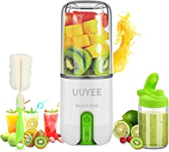 【UUYEE 16oz Portable Blender】Personal Blender for Shakes and Smoothies , Mini Blender & Juicer Mixer, USB Rechargeable Ble...