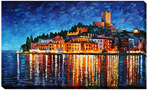 """Picture Perfect International Giclee Stretched Wall Art by Leonid Afremov Italy, Verona Artists-Canvas, 24"""" x 40"""" x 1"""""""