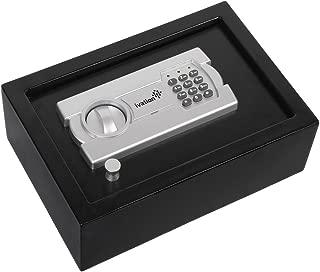 Ivation Electronic Gun Drawer Safe w/Full-Digit Keypad & Override Keys – Solid Steel Construction & Hidden Wall/Floor Anchoring Design – Runs on 4 AA Batteries (Included)
