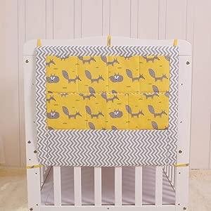 Alvar Bedside Pocket Storage Cotton Washable Baby  for Bottles  Diapers  Milk Powder Cans  Toys Fox