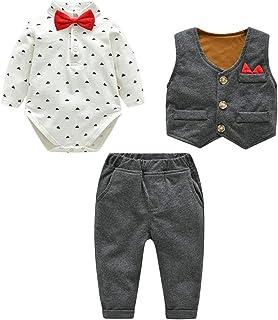 Famuka Baby Anzüge Baby Junge Sakkos Taufe Hochzeit Babybekleidung Set