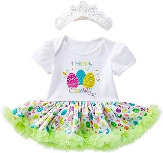 a8fae6eeebef NUWFOR Toddler Newborn Baby Girls Princess Easter Eggs Tutu Dress Outfits  Set