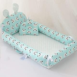 Dzhyy Baby Sleep Pod Newborn Portable Washable And Removable Sleep Nest For Newborn And Babies Blue Panda
