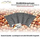 Großes Kirschkernkissen / Entspannungskissen - Heizkissen (Wärmekissen) / langes Relaxkissen / Kirschkern-Kissen mit Stern-Muster in 18 Farben! (grau)
