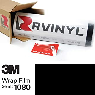 3M 1080 G12 Gloss Black 5ft x 1ft W/Application Card Vinyl Vehicle Car Wrap Film Sheet Roll
