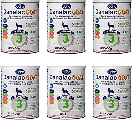 Danalac Étape 3 Lait de Chèvre Formule de Croissance en Poudre pour 1-3 Années Bébés 400 g