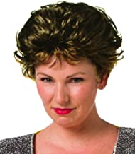 Brunette Feathered Loose Short Waves with Wispy Bangs Costume Wig Sassy Golden Granny, One Size