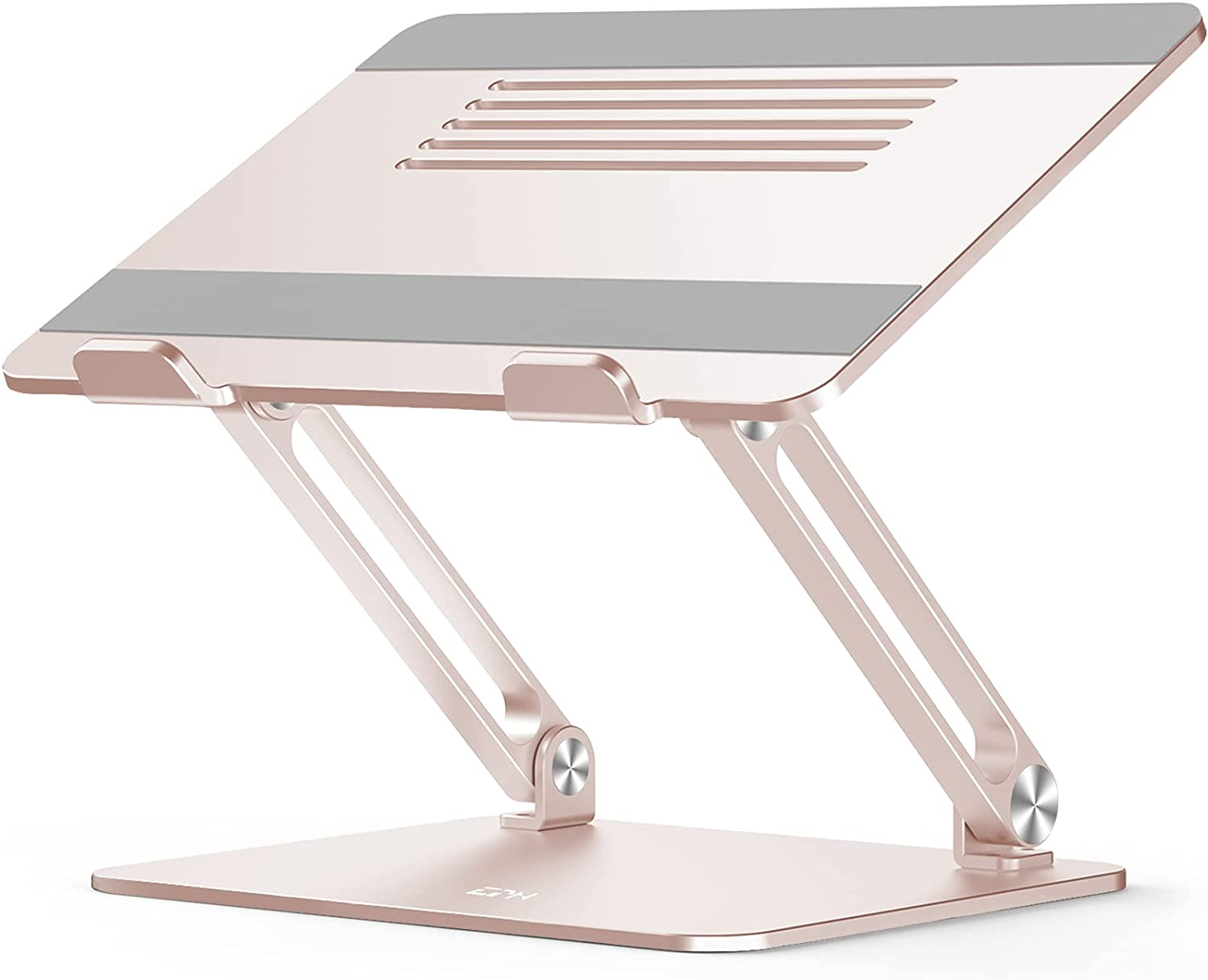 Laptop Stand, EPN Ergonomic Portable Laptop Riser Adjustable Height Laptop Holder with Non-Slip Silicone, Aluminium Alloy Compatible for MacBook, Lenovo, and notebooks up to 17 Inch-Champagne Gold