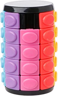Wytinug Decompression Magic Cube Hand Spin Anti-Stress DIY Cylinder Puzzle Education Toy