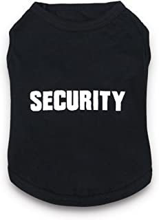DroolingDog Dog Clothes Security Letters Dog T-Shirt Pet Costume Dogs
