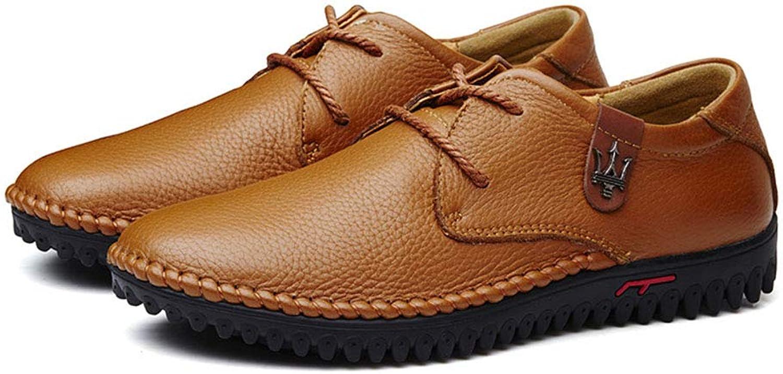 Dilunsizrf Chaussures en Cuir pour Hommes d'affaires Chaussures de Grande Taille Chaussures de Mode Chaussures pour Hommes polyvalentes,jaunecravate,35