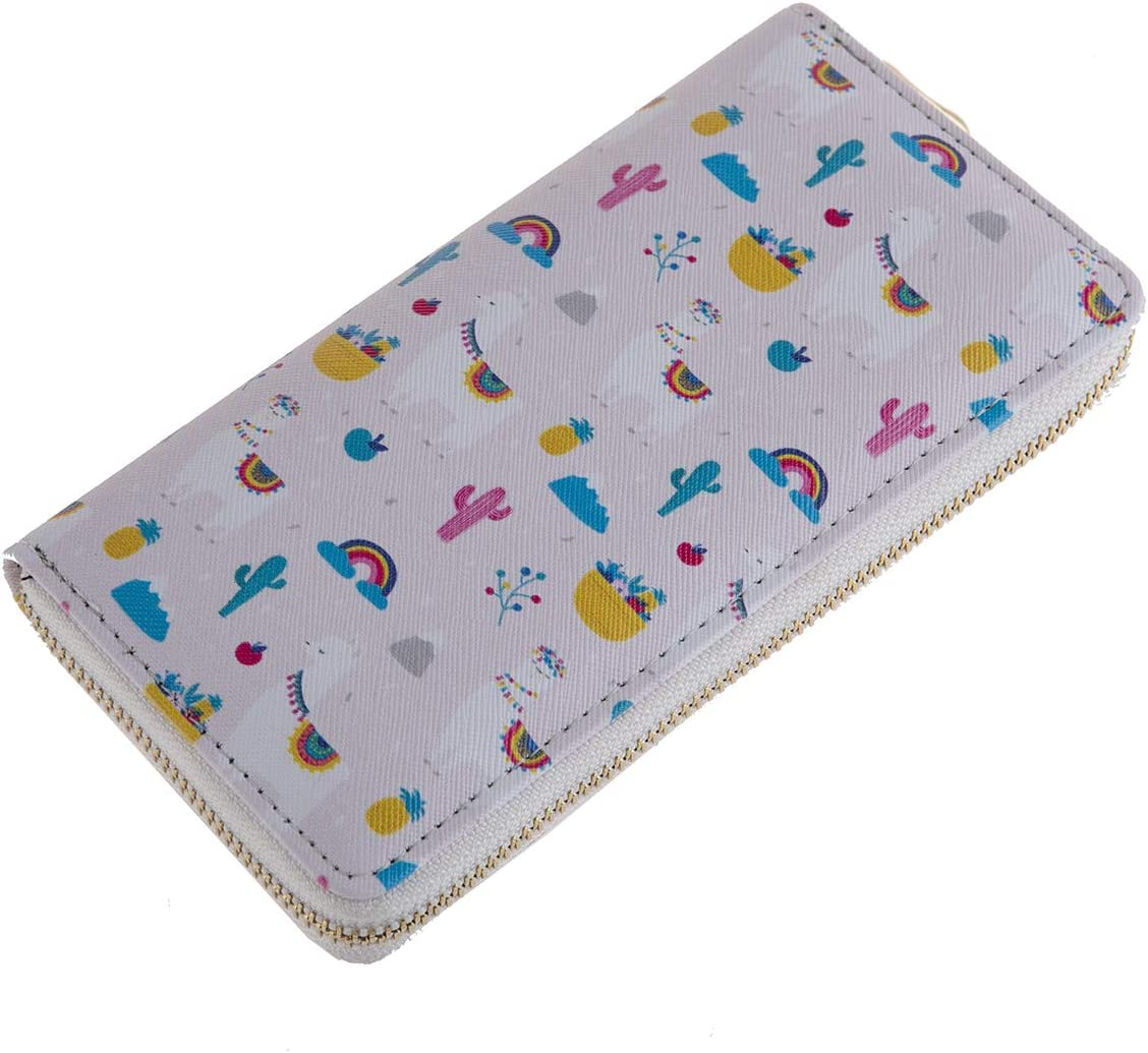 Cute Animal Print Zip Around Long Indianapolis Mall - Wallet Card Sale Phone C Zipper