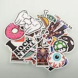 Youareking (150/50 Pack) Random music film Vinyl Skateboard Guitar Travel Case Stickers Car Bike Travel Suitcase Phone Decals Mix Lot Fashion Cool (50)