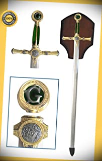 Masonic Free Mason Sword Medieval Templar Knight Freemasonry Ceremonial Green perfect for cosplay outdoor camping