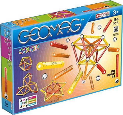 Geomag- Classic Color Construcciones magnéticas y juegos educativos, Multicolor, 64 piezas (262) , color/modelo surtido