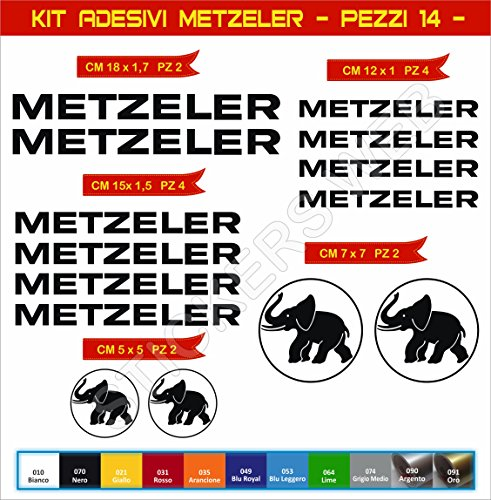 Aufkleber stickers METZELER -Motorrad- Cod. 0567 (Nero cod. 070)
