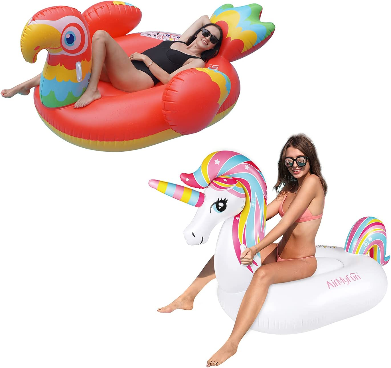 AirMyFun Inflatable Pool Float for Omaha Mall Po Kids Ranking TOP16 Giant Ride-On Adults
