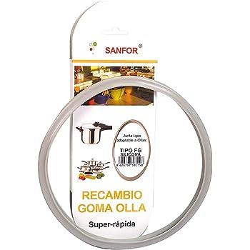 Sanfor 58019 Junta de Goma de Sellado para Tapa rápida Adaptable a Olla a presión Fagor | Silicona | Gris | 22 x 22 x 2 cm: Amazon.es: Hogar