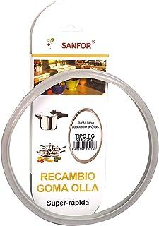 J.Fornies Gomez E Hijos -Sanfor- 58019 Junta de Goma de Sellado para Tapa rápida Adaptable a Olla a presión Fagor | Silicona | Gris | 22 x 22 x 2 cm