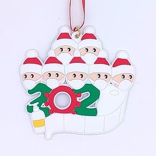 FUTERLY DIY Christmas Ornament Personalized Customize Signature-2020 Quarantine Survivor Family Decorations with Handwashi...