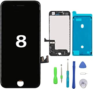 Screen Replacement for iPhone 8 Black Touch Screen LCD Digitizer Replacement Frame Display Assembly Set with Repair Tool K...