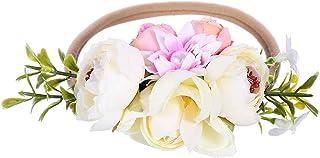 Eralove NewBorn Baby Flower Crown Flower Baby Headband Floral Head Piece for Toddler