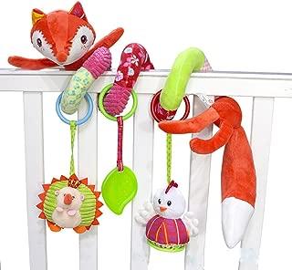 SKK Baby Fox Plush Spiral Activity ToyFor Stroller Crib Carseat Newborn Infant Toddlers Girl Boys