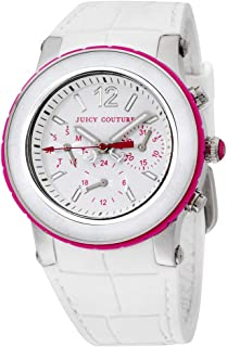 Juicy Couture Womens Quartz Watch, Analog Display and Rubber Strap 1900896