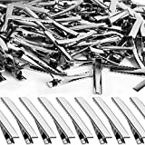 Alligator Hair Clips, YGDZ 150pcs 1.77 Inch Hair Bow Clips Metal Single Prong Silver Bulk Alligator Hair Clips for Bows Making Crafts(4.5cm)