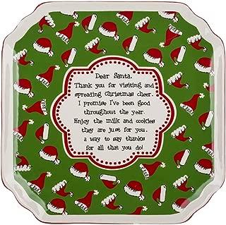 Ganz Snack Plate Dear Santa