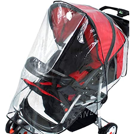 Clear Rainproof Windproof Stroller Cover Clear Stroller Rain Cover Universal Baby Stroller Accessory for Doona Infant Car Seat Stroller Stroller Rain Cover for Stroller