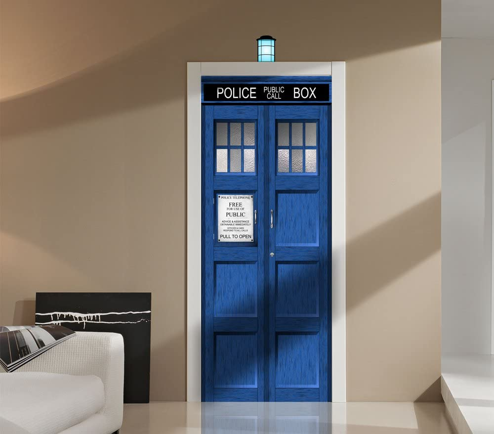 Dr Who Window View Decal Wall Sticker Home Decor Art Mural