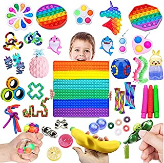 HICITI 50 Pack Pop it set , Relieves Stress and Anxiety Fidget Toy for Children Adults, Pop it toys set for Birthday Party...