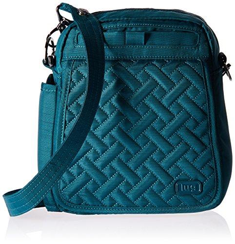 LUG Flapper Kreuz Körper Tasche, gebürstetem Blaugrün Cross-Body-Tasche, Brushed Teal (blau) - NEWBAG-03668
