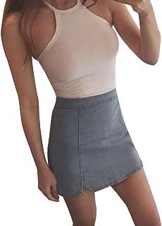 AOJIAN Women's T Shirt Sleeveless Shirts Summer Slim Sexy Halter Tunic Blouse Tanks Vest Tops