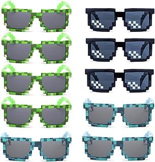 Kilofly - 10 gafas de sol de 8 bits para jugadores de videojuegos, para adultos y niños, accesorios de fiesta