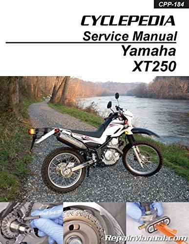 CPP-184-P 2008- 2012 Yamaha XT250 Carburetor Models Motorcycle Print Service Manual by Cyclepedia
