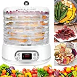 Food Dehydrator Machine 6 Trays Dehydrator for Food and Jerky 400W Fruit Dryer Dehydrator with...