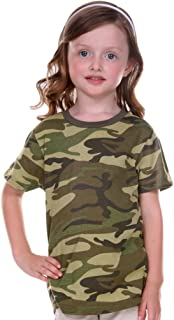 ! Toddlers Camouflage Crew Neck Short Sleeve Tee