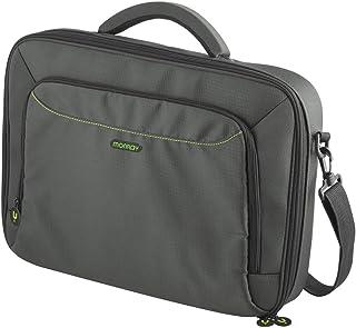 Maletín para portátil 15.6 pulgadas, funda resistente para transportar tu ordenador, color gris y verde, MONRAY Caprice