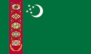 America's Flag Company Nylon Turkmenistan Flag 5-Foot by 8-Foot