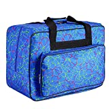 Sewing Machine Carrying Case Tote Bag,Padded Storage Cover Carrying Case with Pockets and Handles ,Canvas (Blue)